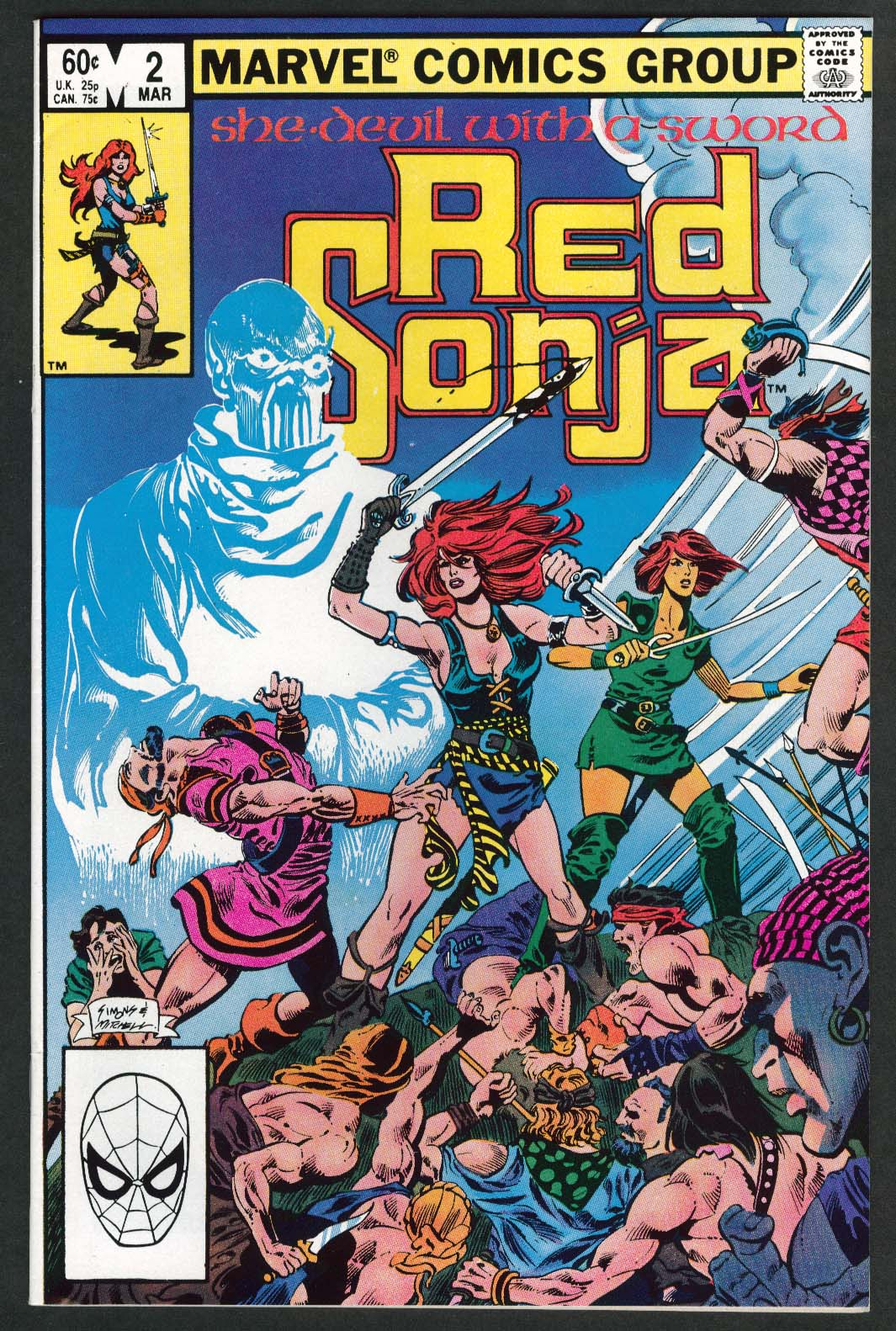 Image for RED SONJA #2 Marvel comic book 3 1983