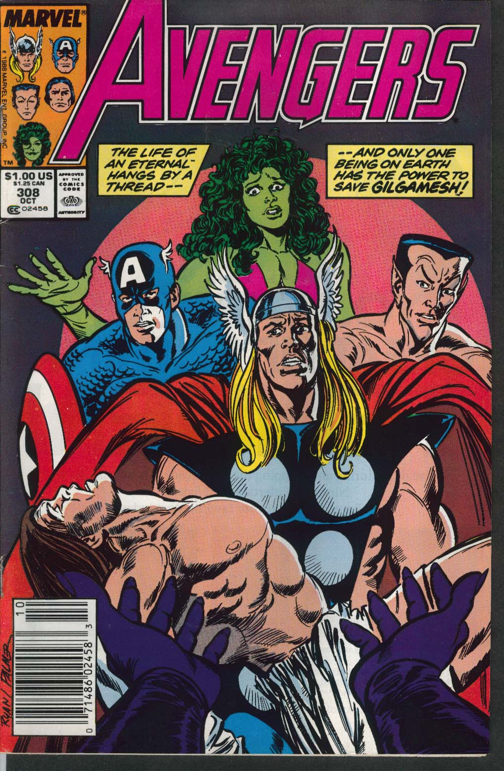 Image for AVENGERS #308 Marvel comic book 10 1989