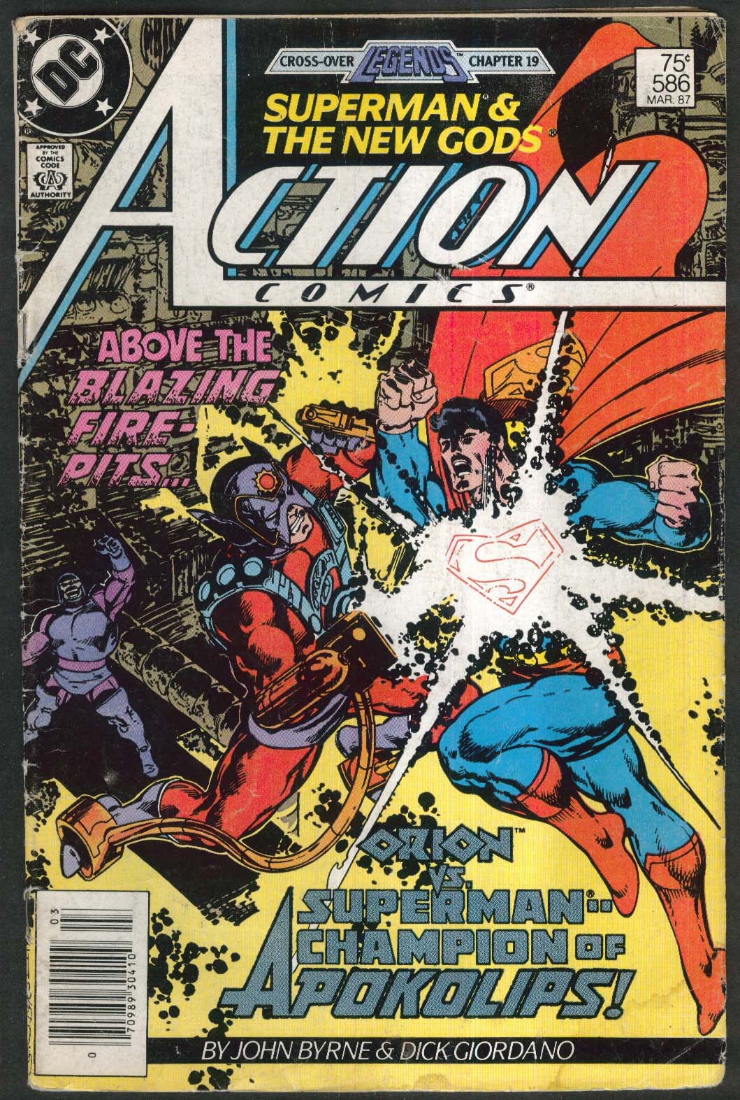 Image for ACTION COMICS #586 DC comic book 3 1987 Superman