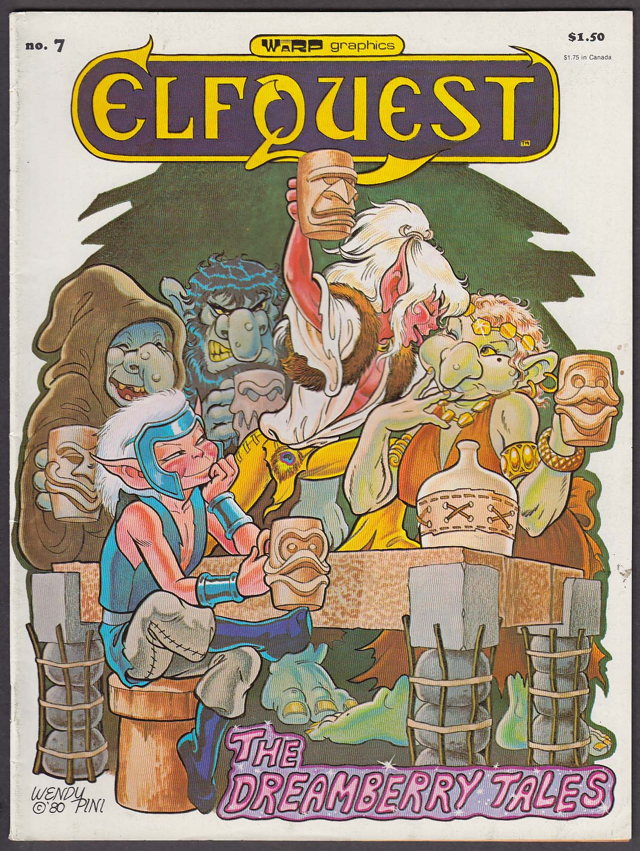 Image for ELFQUEST #7 Warp Graphics comic book 5 1980