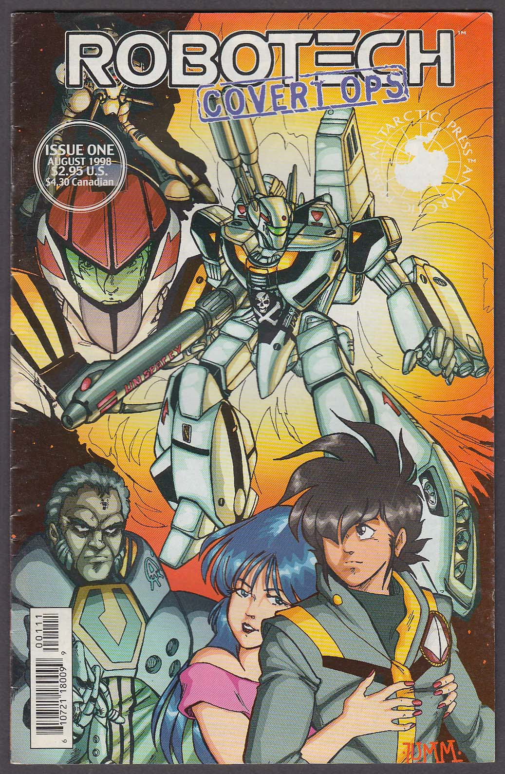 Image for ROBOTECH COVERT OPS #1 Antarctic comic book 8 1998