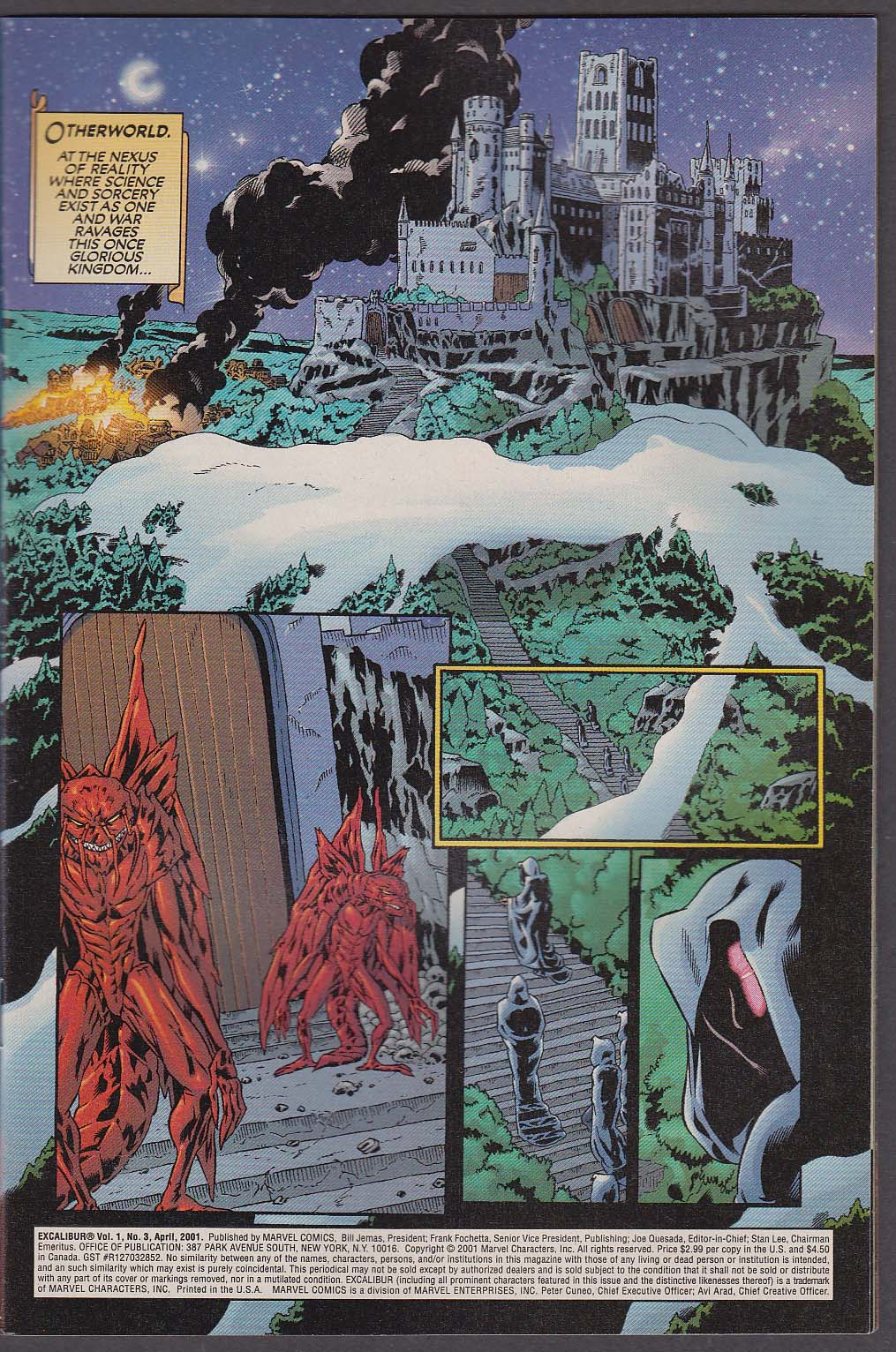 Image for EXCALIBUR #3 Marvel comic book 4 2001