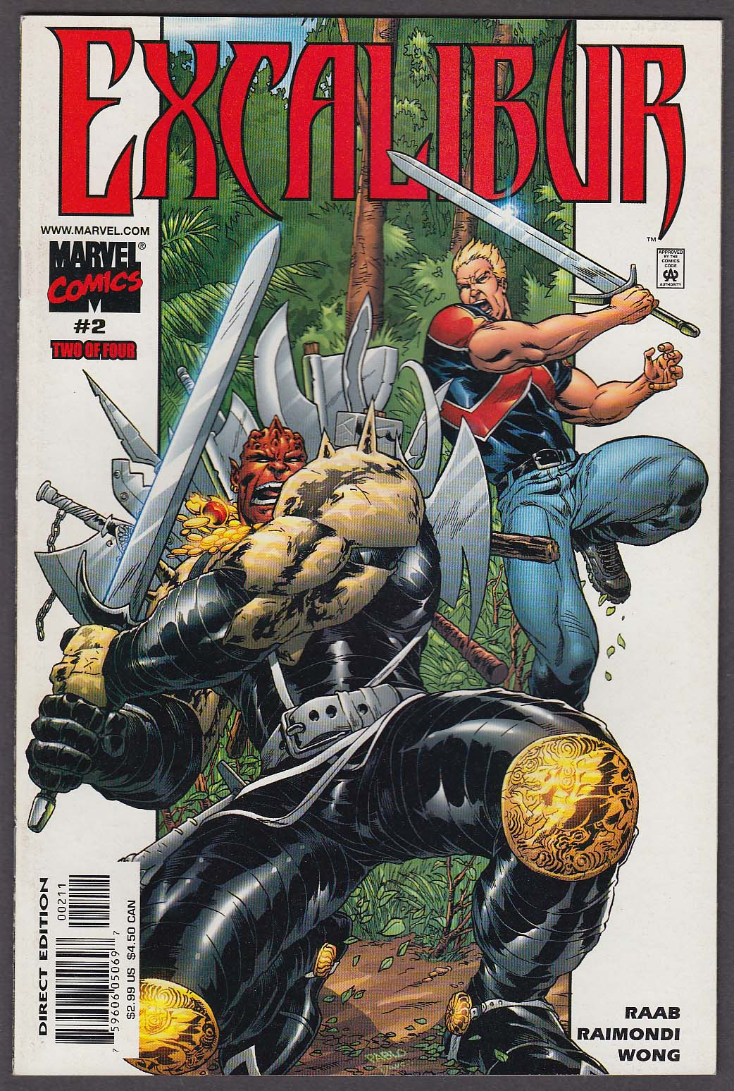 Image for EXCALIBUR #2 Marvel comic book 3 2001