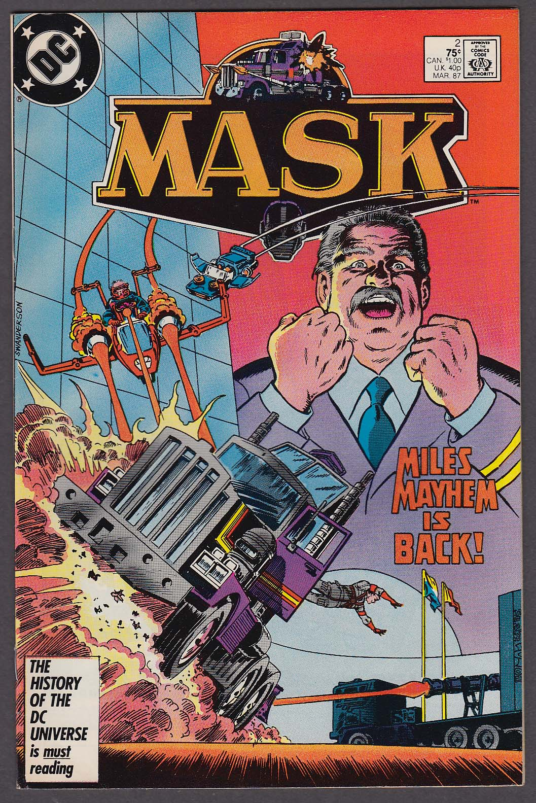 Image for MASK #2 DC comic book 3 1987
