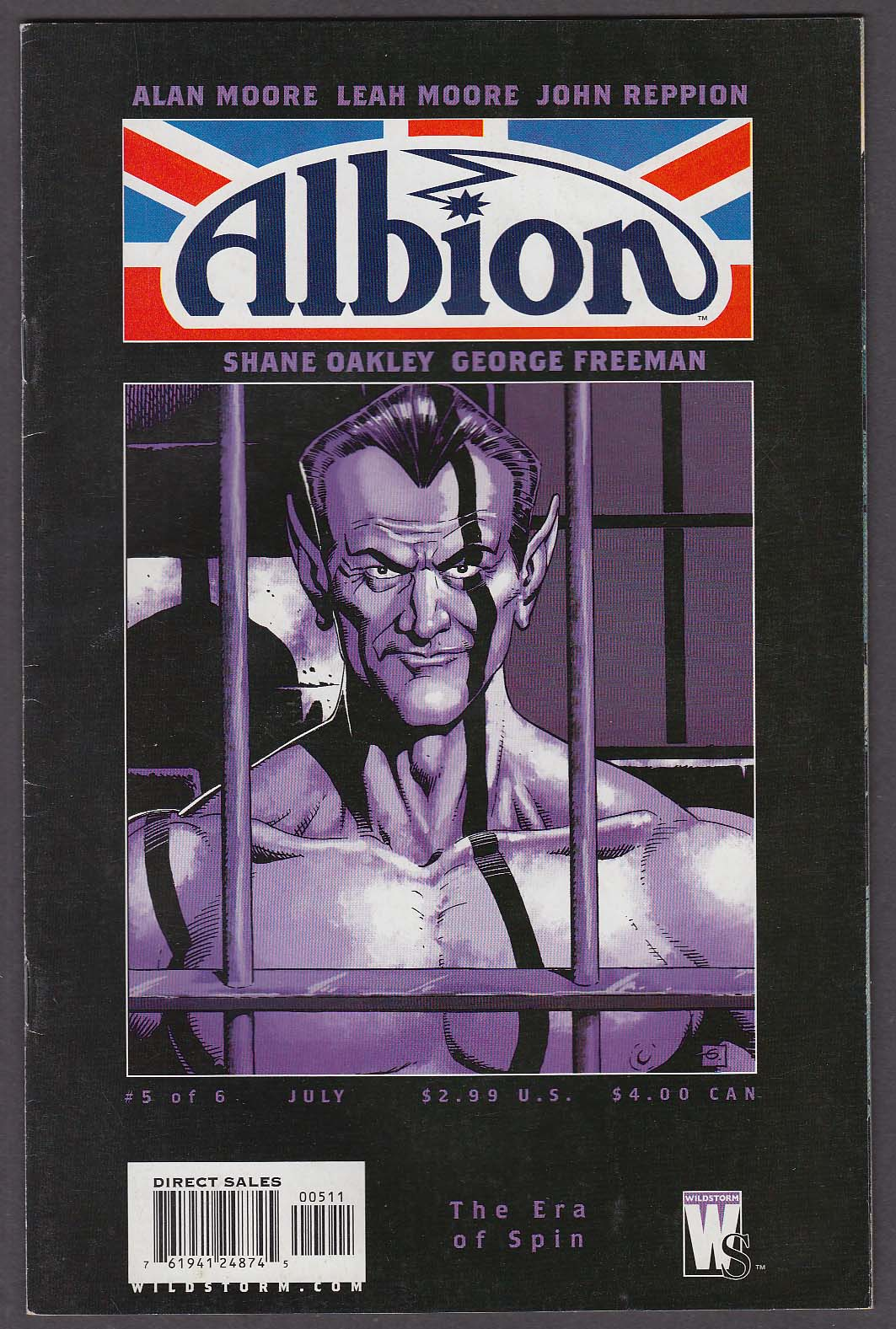 Image for ALBION #5 WildStorm comic book 7 2006 Alan Moore