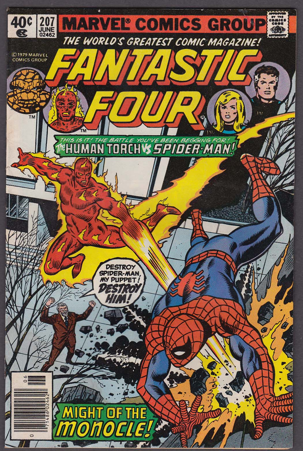Image for FANTASTIC FOUR #207 Marvel comic book 6 1979