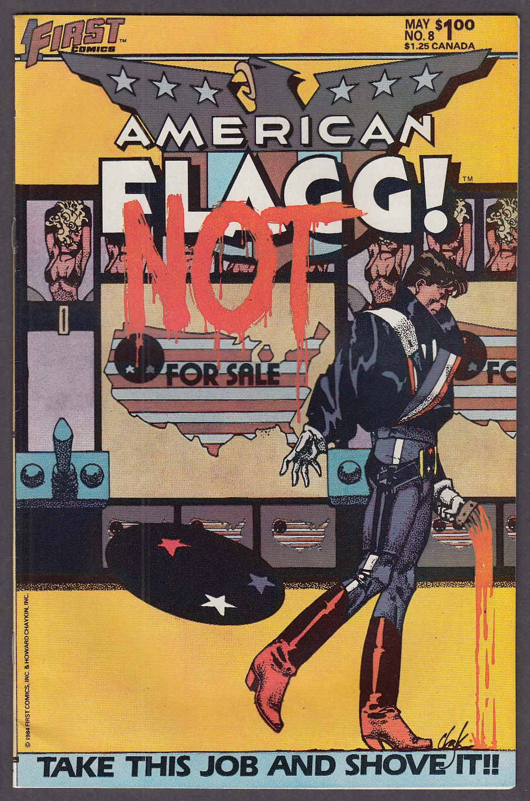 Image for AMERICAN FLAGG! #8 First comic book 5 1984