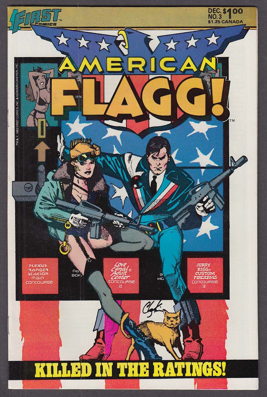 Image for AMERICAN FLAGG! #3 First comic book 12 1983