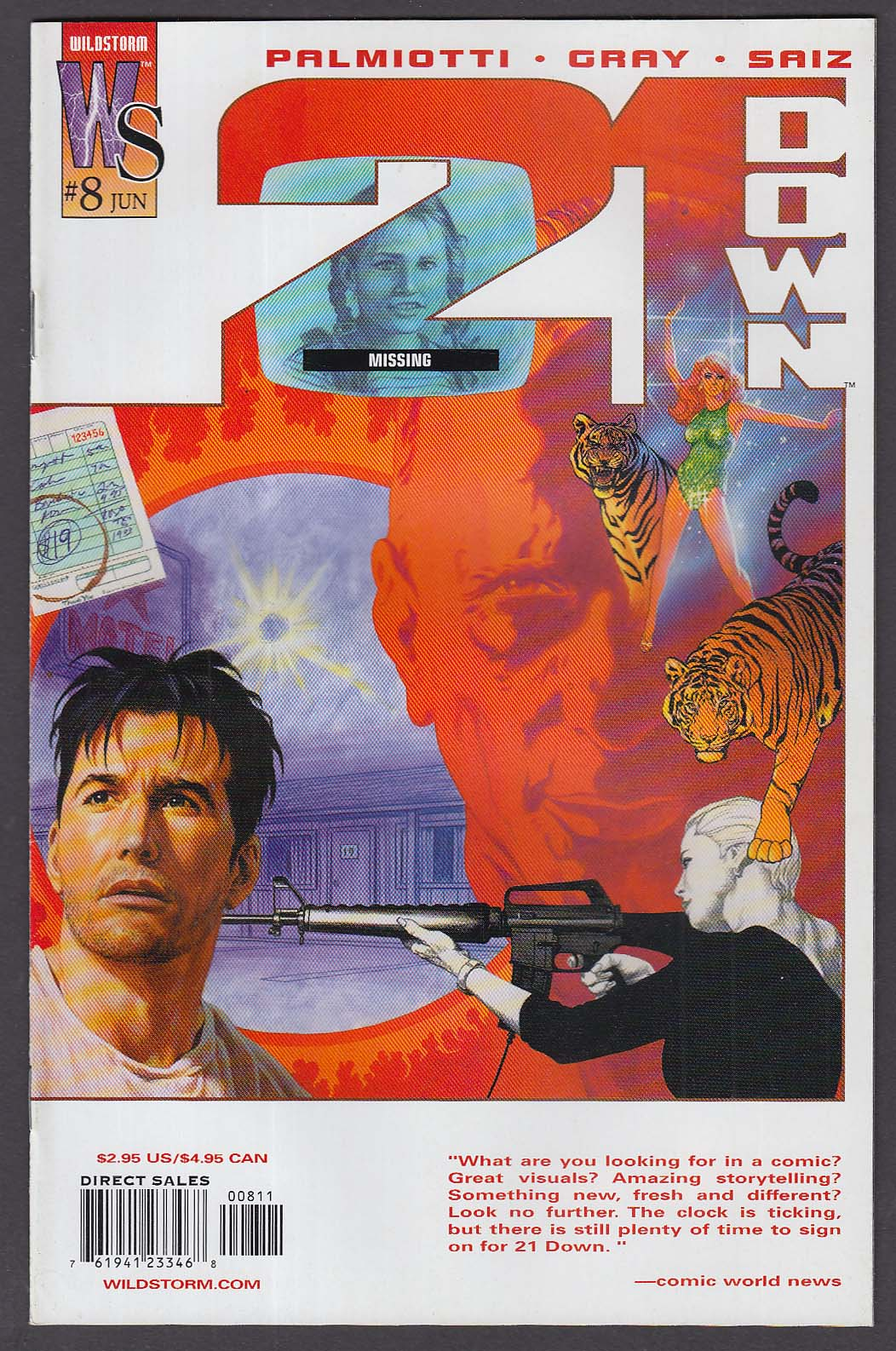 Image for 21 DOWN #8 WildStorm comic book 6 2003