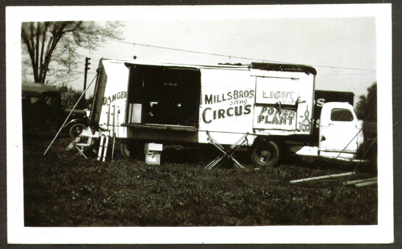 Image for Power Truck Mills Bros Circus photo Frankfort IN 1948