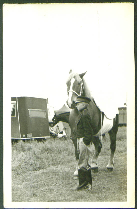 Image for Youth & horse Russell Bros circus snapshot 1940