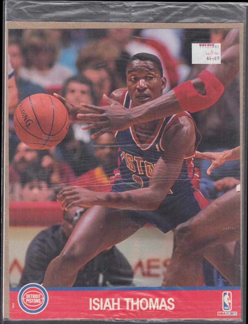 Image for NBA HOOPS Action Photo 1990 Pistons Isiah Thomas in shrinkwrap