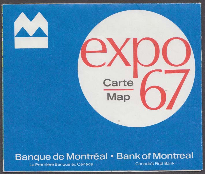 Image for Expo 67 Bi-lingual Map Bank of Montreal Banque de Montreal
