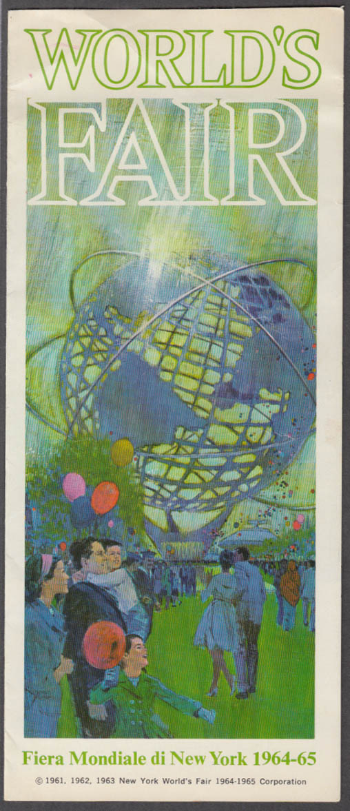 Image for 1964 New York World's Fair pre-opening folder in Italian 1963