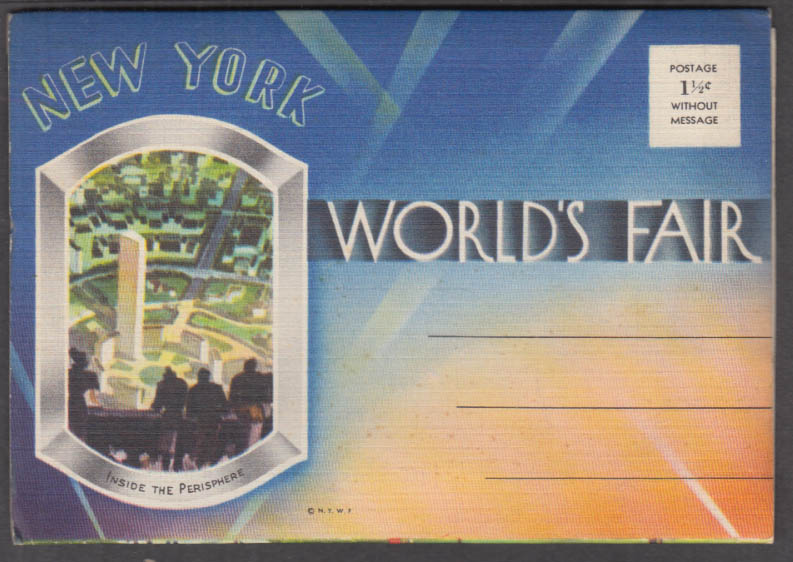 Image for New York World's Fair picture postcard folio 1939 unmailed 18 views