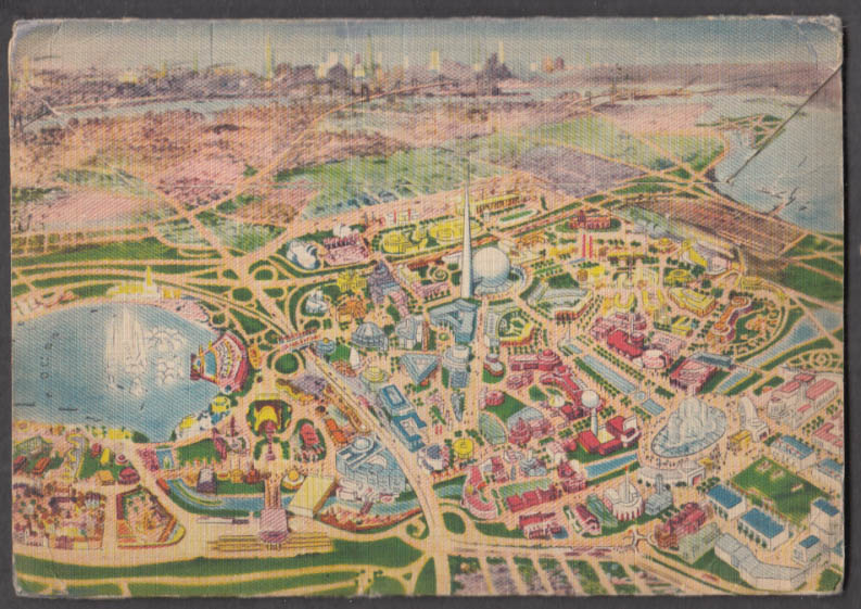Image for New York World's Fair picture postcard folio 1939 mailed from NYWF 18 views
