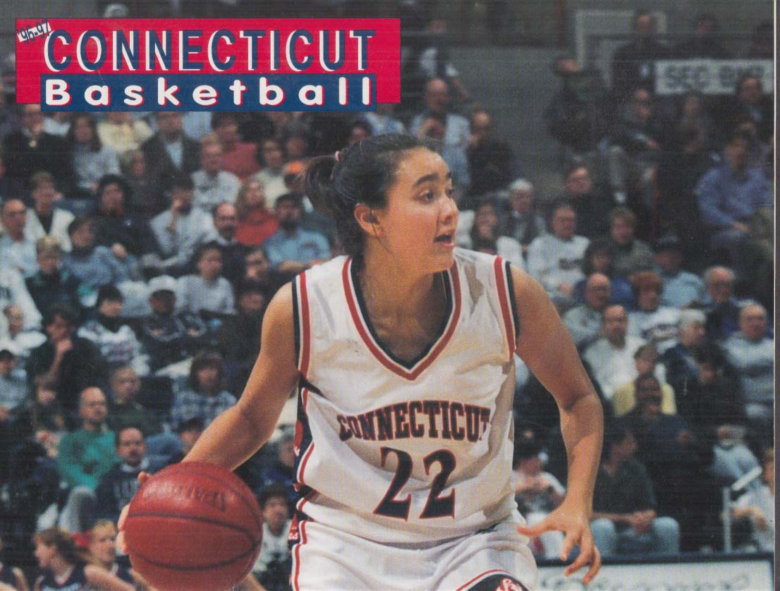 Image for UCONN Women vs Seton Hall Game Scorecard 1997 Amy Duran cover