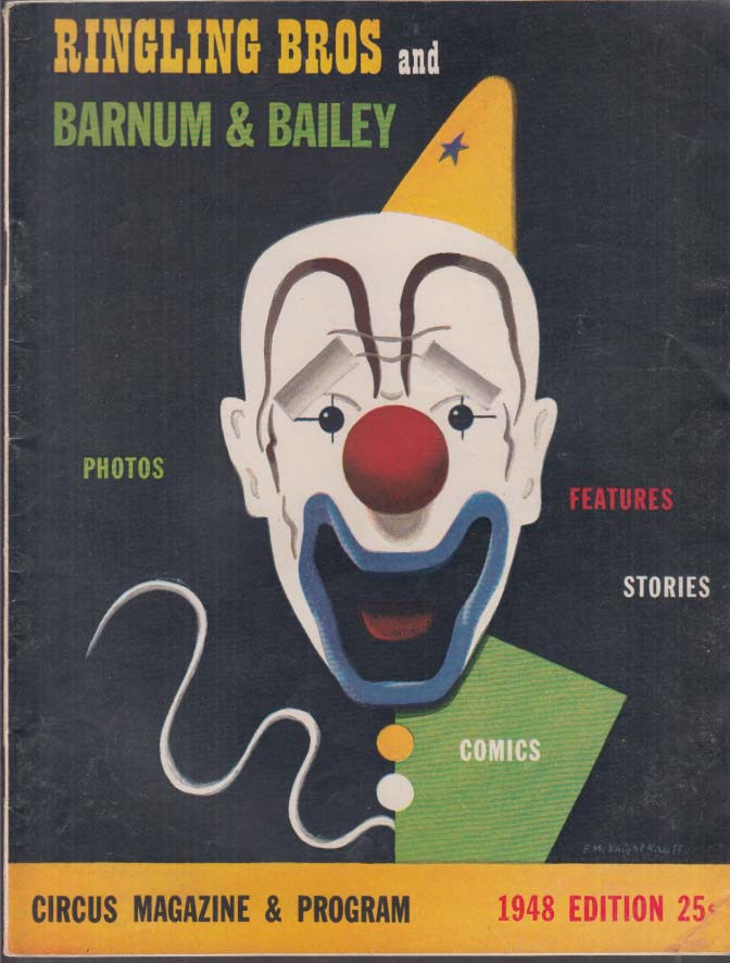 Image for Ringling Bros Barnum & Bailey Circus Prgm 1948 Red Skelton Wllace Beery Bing +
