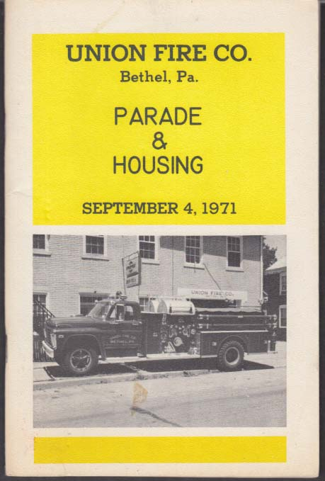 Image for Union Fire Company Bethel PA Parade & Housing 1971 Ford LaFrance Pumper
