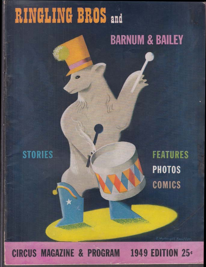 Image for Ringling Bros Barnum & Bailey Circus Pgm 1949 Spencer Tracy Bing Crosby Melchior
