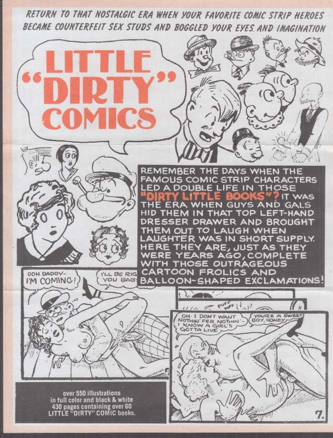 Image for Famous Dirty Little Sex Comics Comix sales flyers 1970s