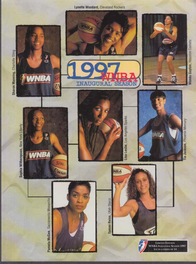 Image for New York Liberty vs Los Angeles Sparks WNBA Roster Card 6/21 1997 game