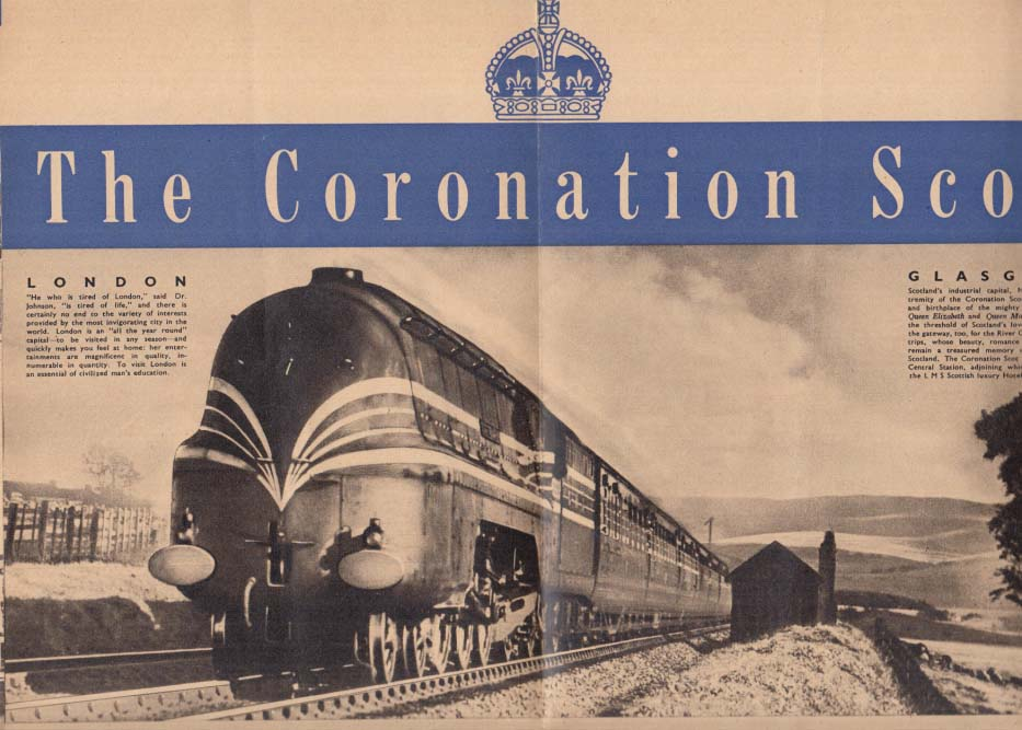 Image for The Coronation Scot British Locomotive US Tour folder NY World's Fair 1939