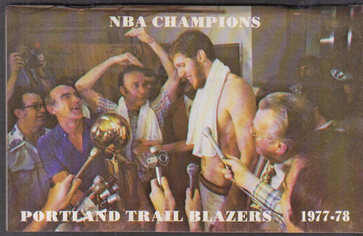 Image for Portland Trail Blazers Media Guide 1977-1978 NBA Champions Bill Walton +