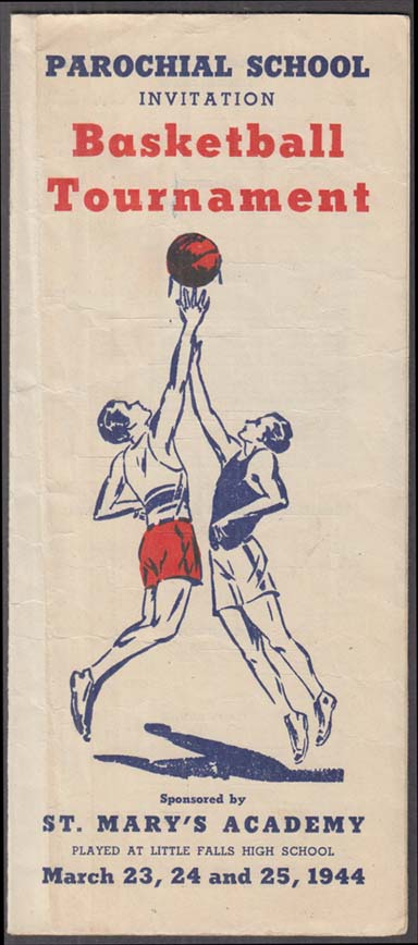 Image for Little Falls Parochial School Basketball Tournament folder 1944 NY