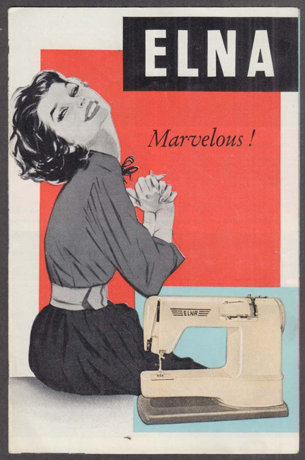 Image for Elna Sewing Machine advertising folder ca 1950s