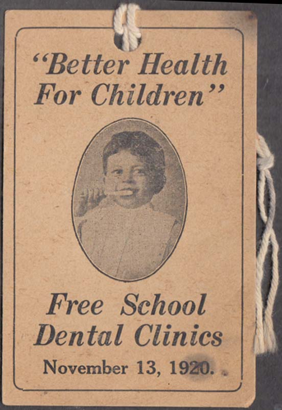 Image for Better Health for Children tag Free School Cental Clinics 1920