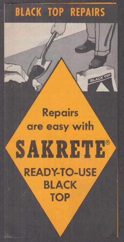 Image for Sakrete Ready-to-Use Black Top Repairs sales folder 1950s