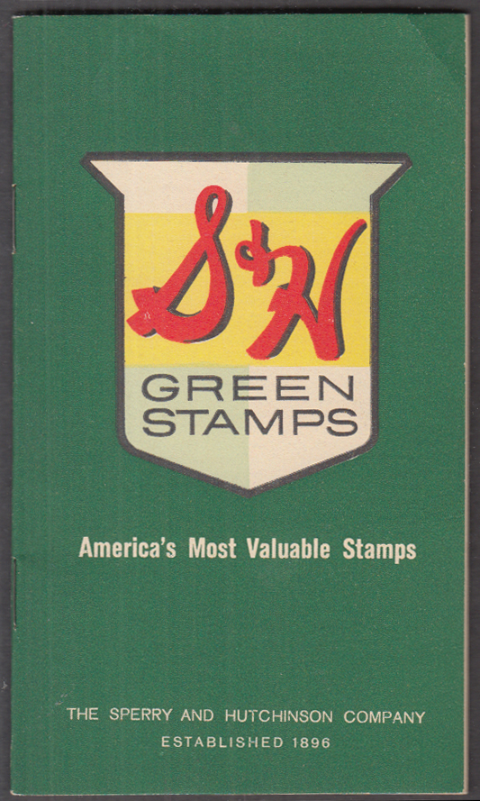 Image for S&H Green Stamps trading stamp book 1962 First National Stores chain CT