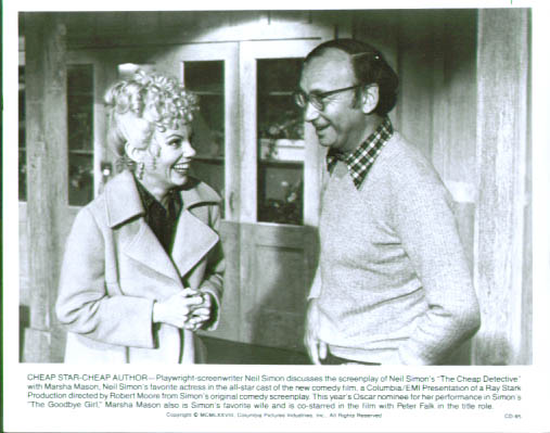 Image for Marsha Mason Neil Simon The Cheap Detective behind the scenes 8x10 still 1978