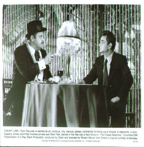 Image for Peter Falk Dom DeLuise Cheap Detective 8x10