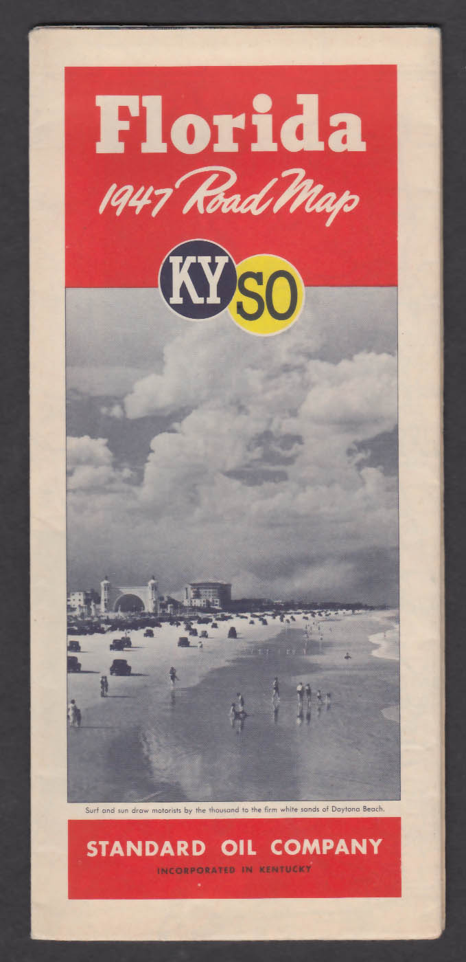 Image for 1947 KYSO Florida Road Map