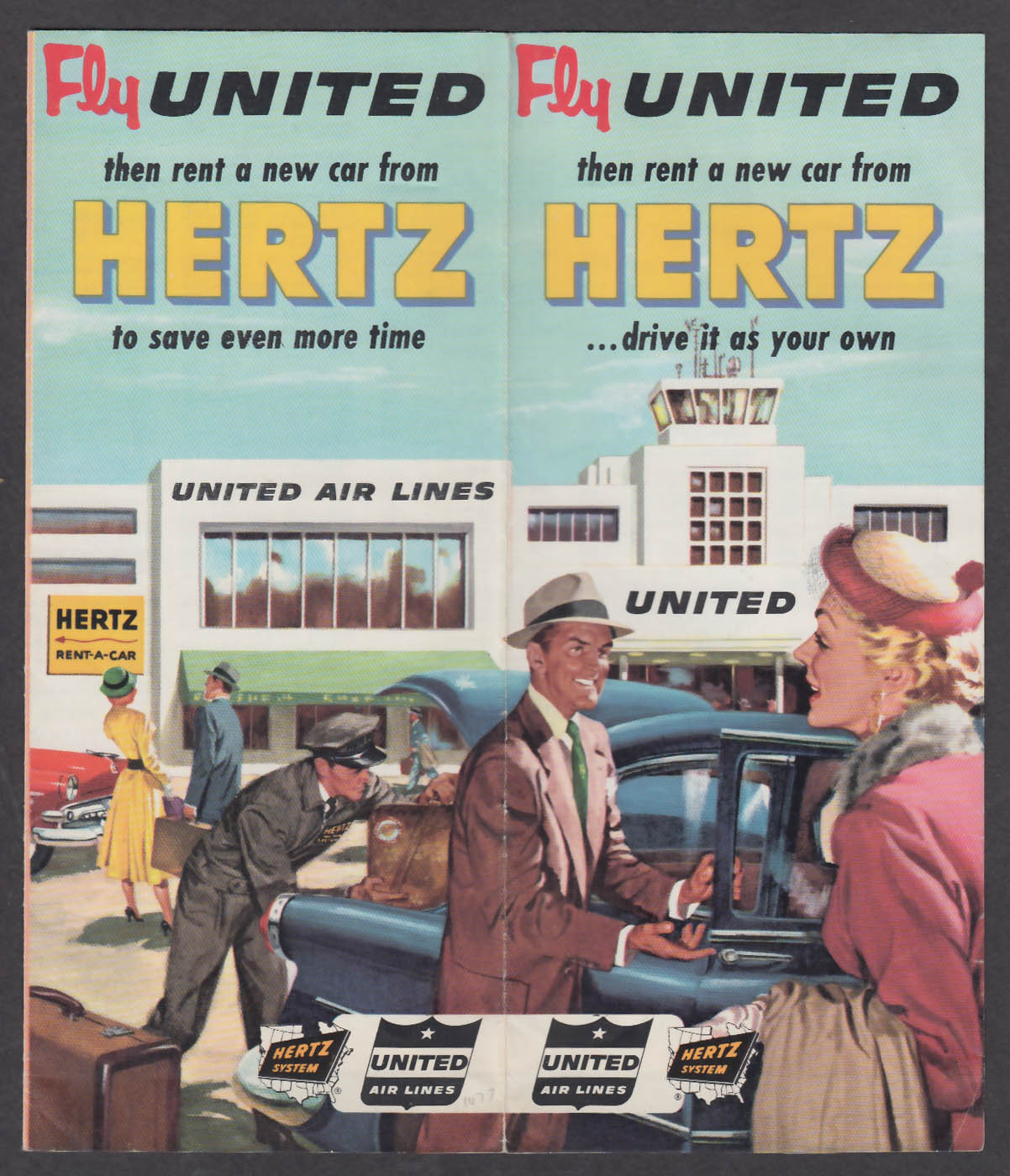 Image for 1954 Hertz / United Air Lines brochure
