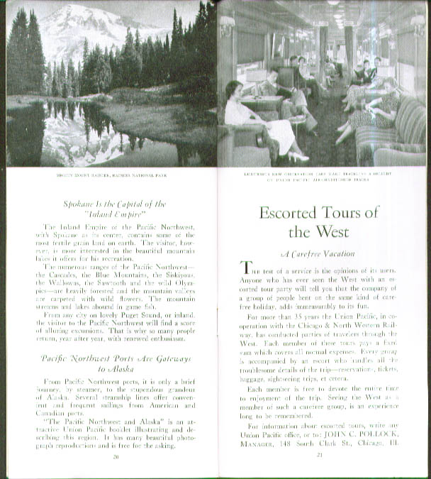 Image for Union Pacific Western Wonderlands booklet 1935