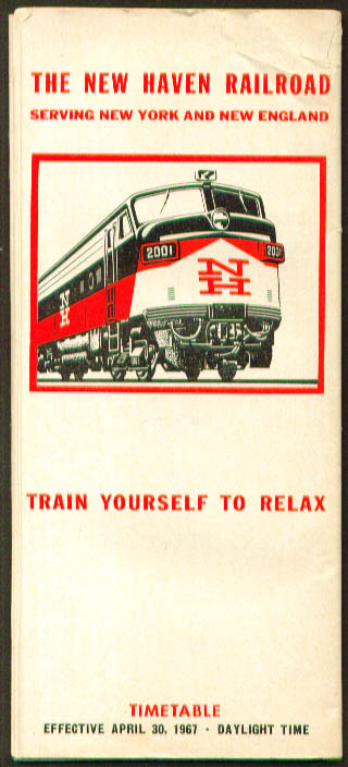 Image for New Haven Railroad Time Tables 4/30/1967