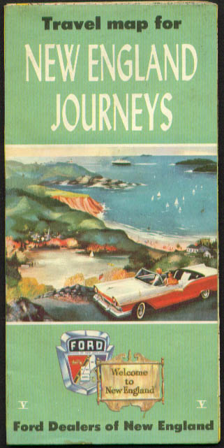 Image for New England Ford Dealers Journeys Road Map 1957