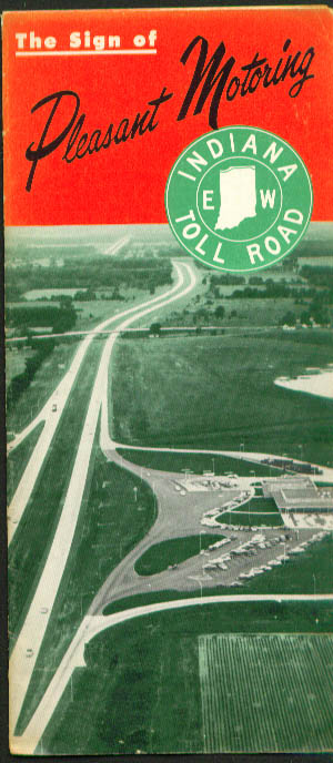 Image for Indiana Toll Road map & guide 1950s