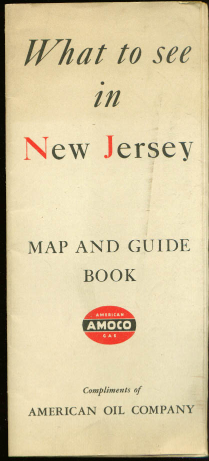 Image for Amoco What to See in New Jersey Road Map & Guide 1940