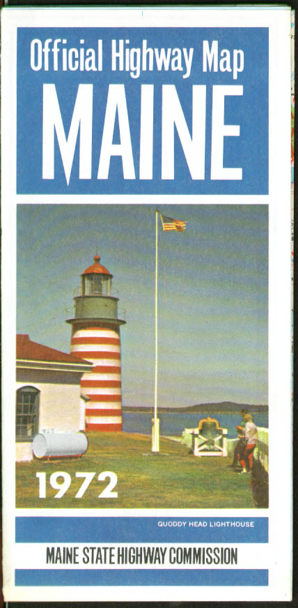 Image for State of Maine Official State Highway Commission Road Map 1972