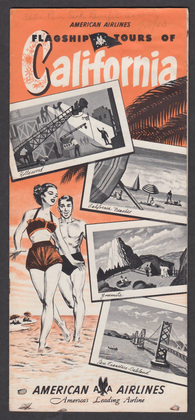 Image for 1952 American Airlines Tours California brochure