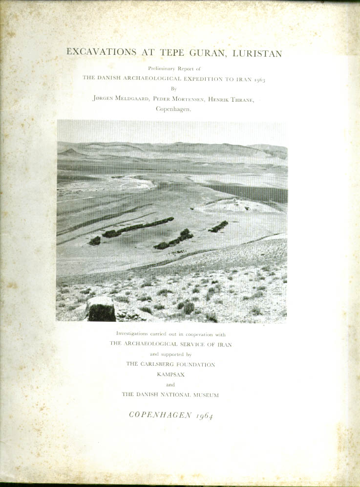 Image for Excavations Tepe Guran Luristan SIGNED Meldgaard 1964