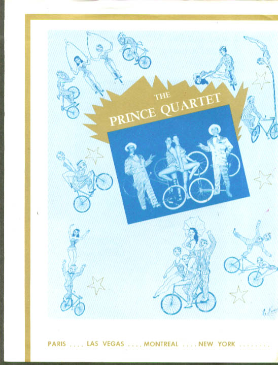 Image for Prince Quartet Bicycle Act folder circus act 1950s