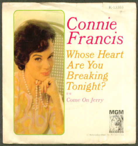 Image for Connie Francis Whose Heart Are You Breaking Tonight? 45