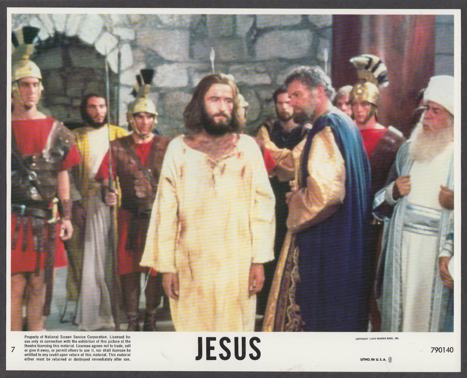 Image for Brian Deacon as Jesus 8x10 lobby card 1979 #5