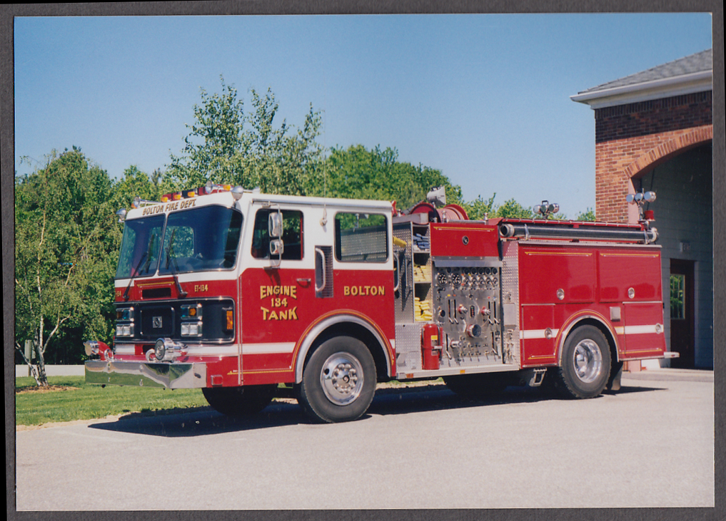 Image for Bolton MA FD Tank Pumper Engine #134 fire truck photo