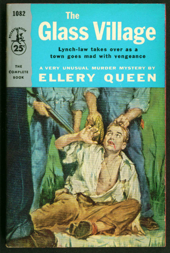 Image for Ellery Queen The Glass Village noir pb lynch mob